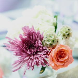 Chicago Wedding Floral Arrangement Centerpiece