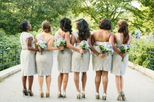 Vintage Chic Bridesmaids and Wedding Bouquets