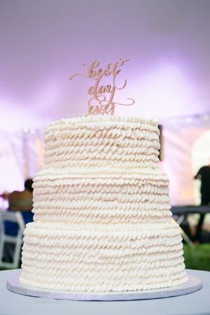White Gluten Free Wedding Cake