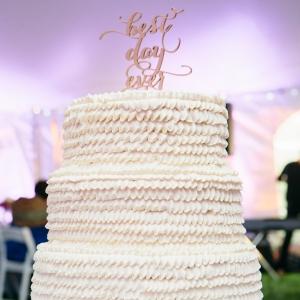 White Gluten Free Wedding Cake