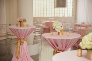 Blush Wedding Reception Table Decor