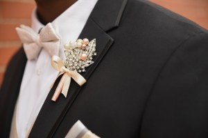 Blush Pink Wedding Groom Boutonniere