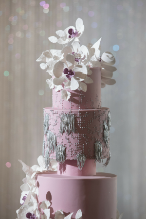 Events by TMA Lavender & Silver Springtime Wedding Cake