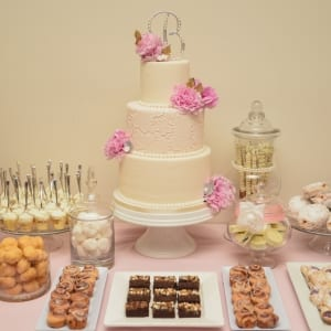 Dessert Table Cake and Decor