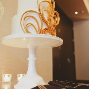 Art Deco Wedding Cake Table