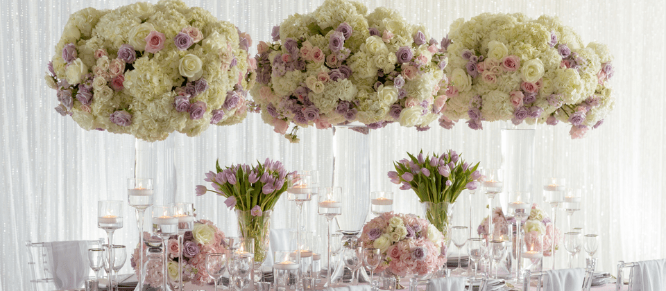 Events by TMA Luxury Floral Design Lavender Blush Wedding Design